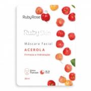 Máscara Facial de Tecido Acerola Ruby Rose 25ml