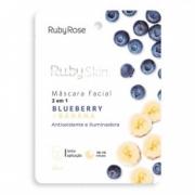 Máscara Facial de Tecido Blueberry e Banana Ruby Rose 25ml