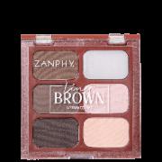 Paleta Liner Brown Sobrancelhas 6 cores Zanphy