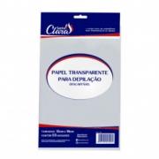Papel para depilação transparente Santa Clara - 50 folhas