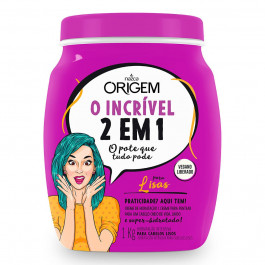 2 Em 1 Creme de Hidratação + Creme para Pentear Lisas Origem 1kg