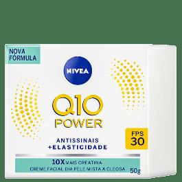 Creme Facial Nivea Q10 Power Antissinais Dia Pele Mista a Oleosa 50g
