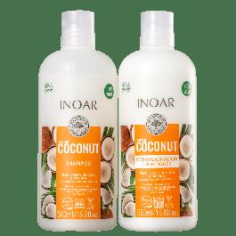 Inoar Bombar Coconut Kit - Shampoo + Condicionador 1L