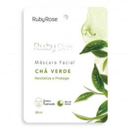 Máscara Facial de Tecido Chá Verde Ruby Rose 25ml