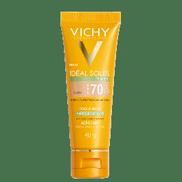 Vichy Protetor Solar Idéal Soleil Purify FPS 70 Clara 40g