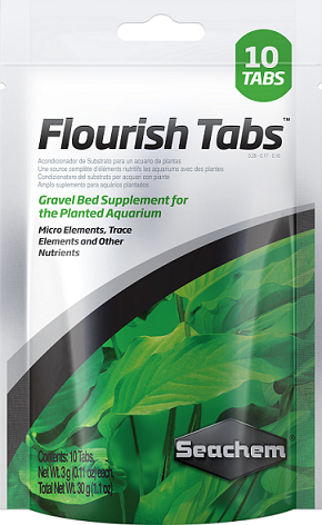 Seachem Flourish Tabs Cx. c/  10 tabletes 30 grs