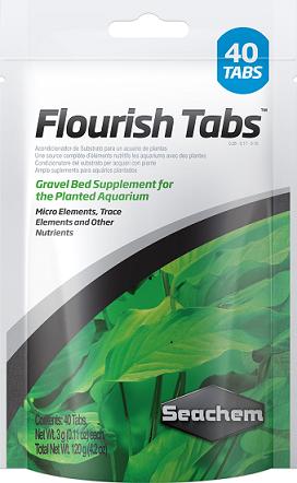 Seachem Flourish Tabs Cx. c/  40 tabletes 120 grs