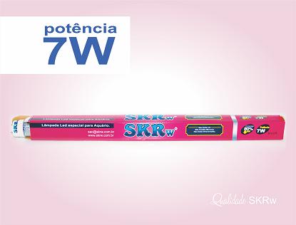 SKRW Lampada Led T8 07W 45 cm ( Rosa )( Novidade )
