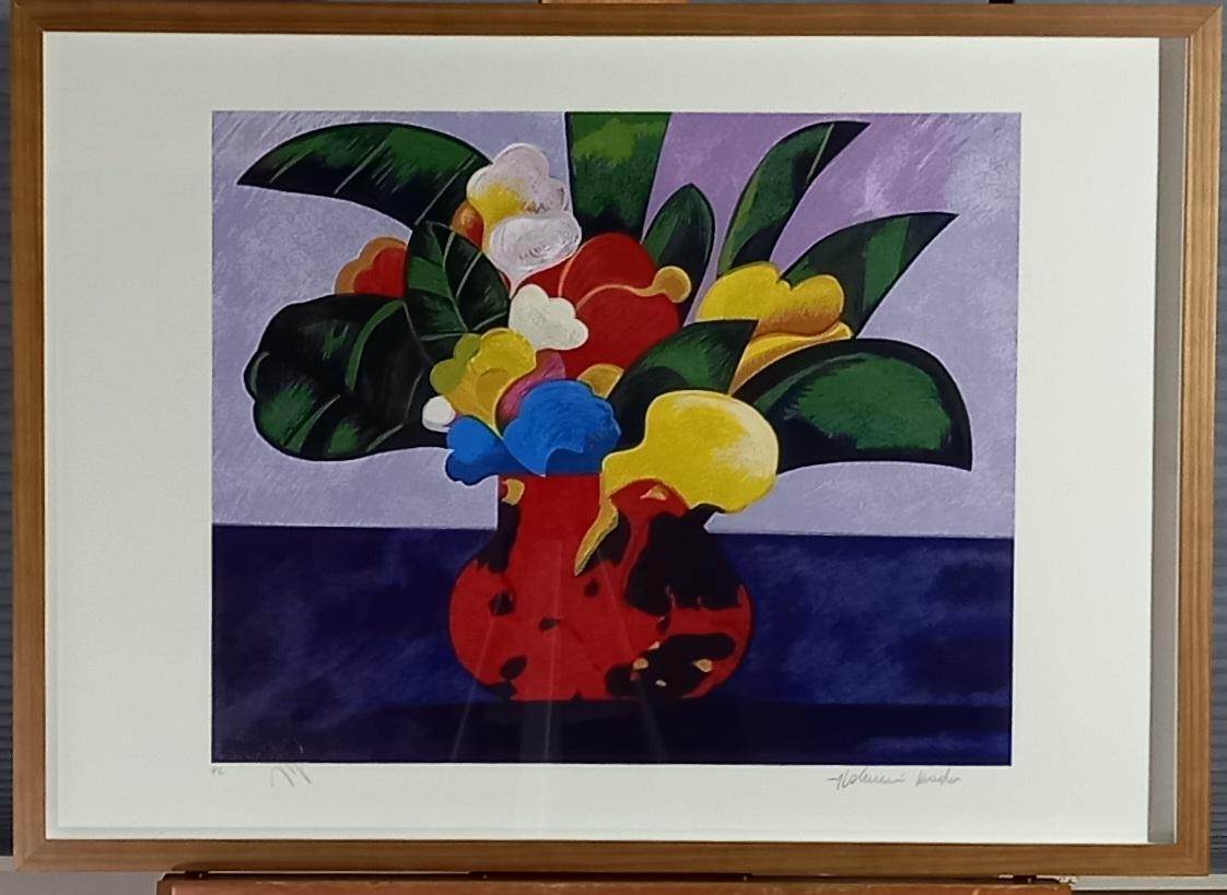 Aldemir Martins - Vaso de Flores Colorida