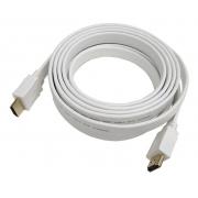 CABO HDMI FLAT 1.4 4K ULTRA HD 19P 2 METROS BRANCO 018-9780 - PIX