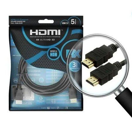 CABO HDMI 5 METROS 2.0V 4K 3D ULTRAHD 19 PINOS