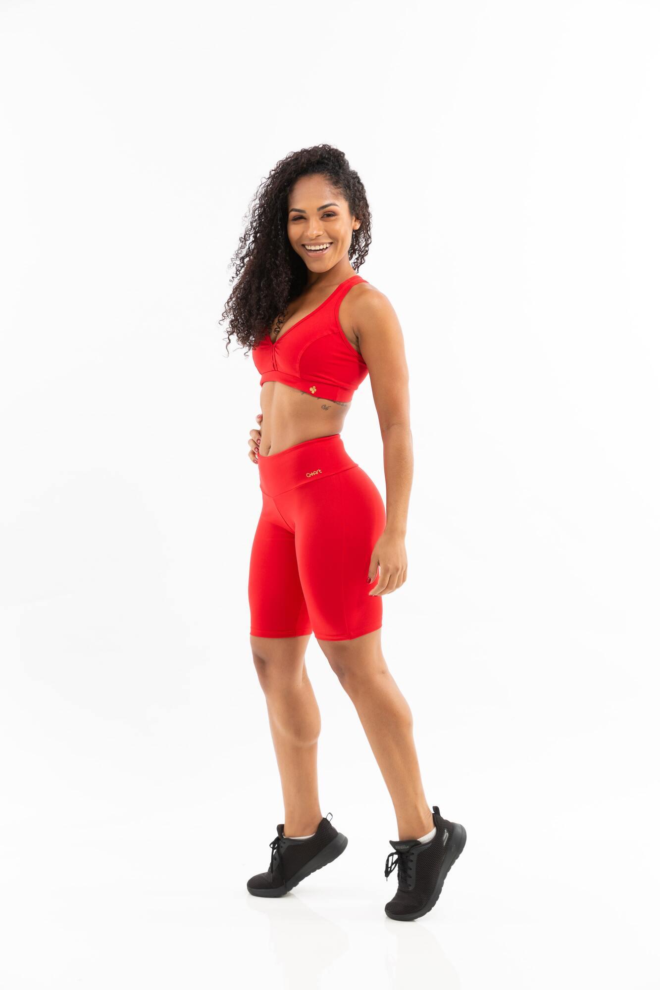 Bermuda Ciclista Básica Vermelho
