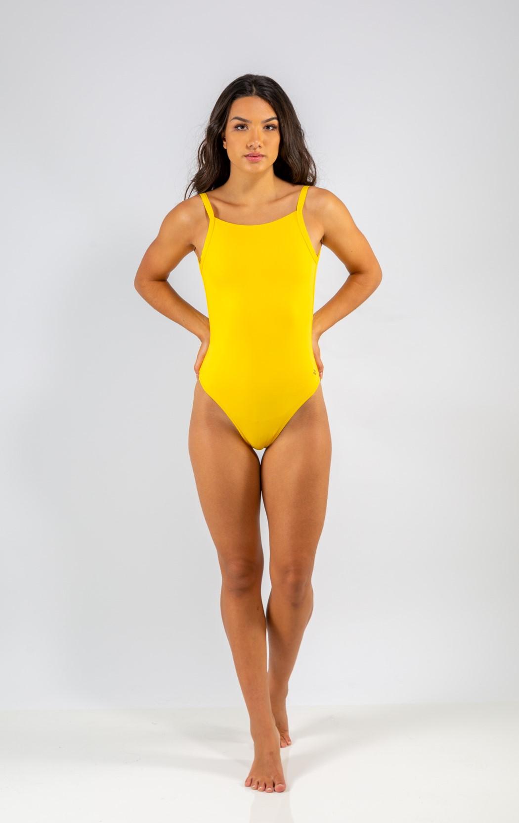 Body Decote nas Costas Amarelo