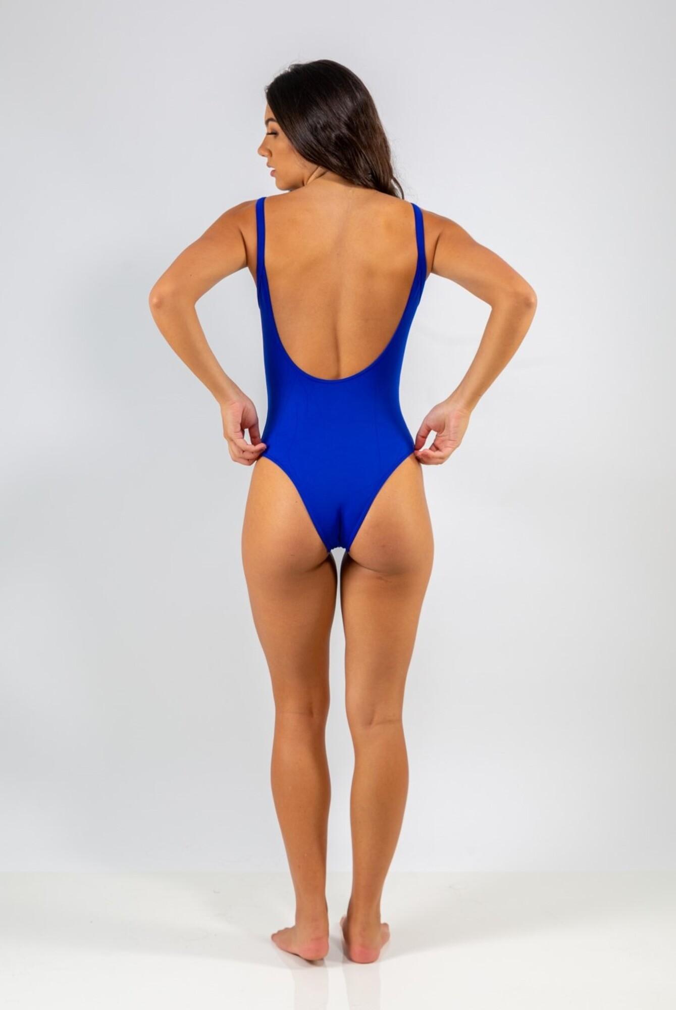 Body Decote nas Costas Azul