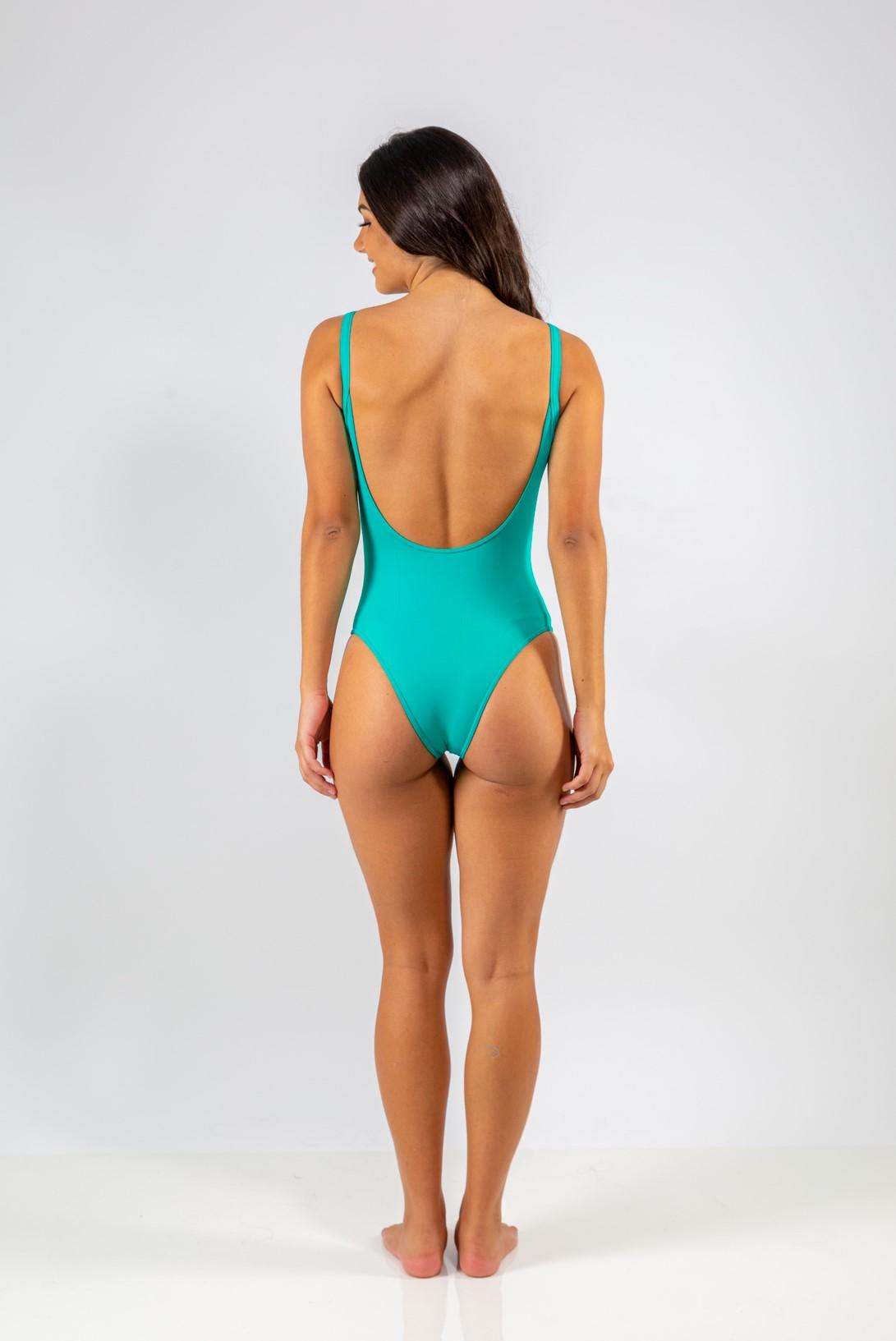 Body Decote nas Costas Esmeralda