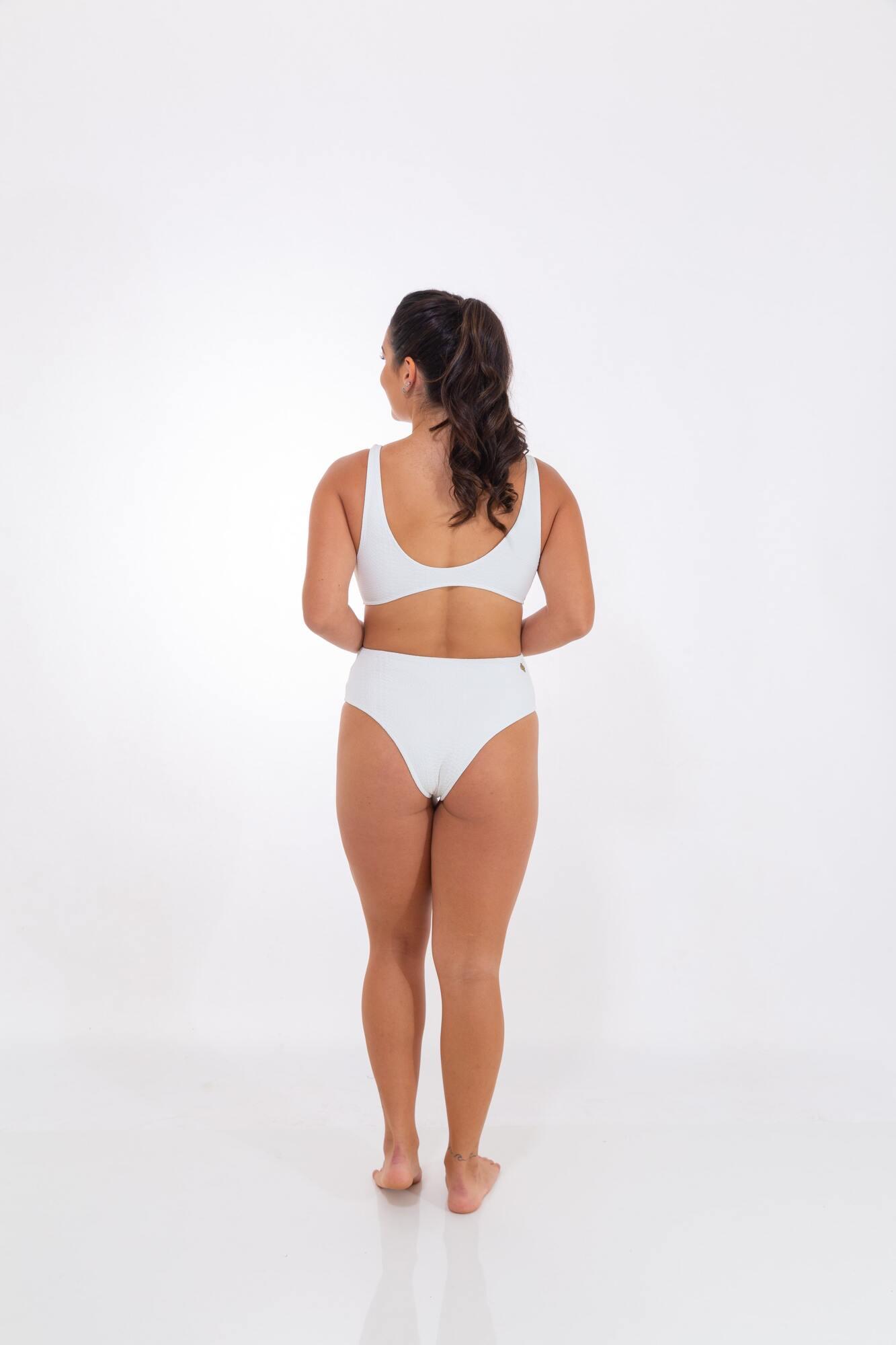 Body Recorte Lateral Branco