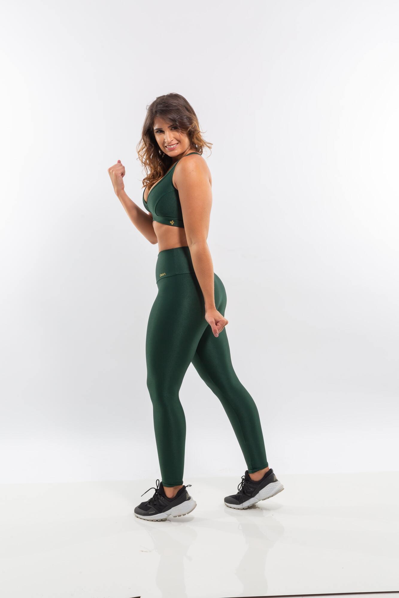Calça Legging Cós Alto Wonder Verde