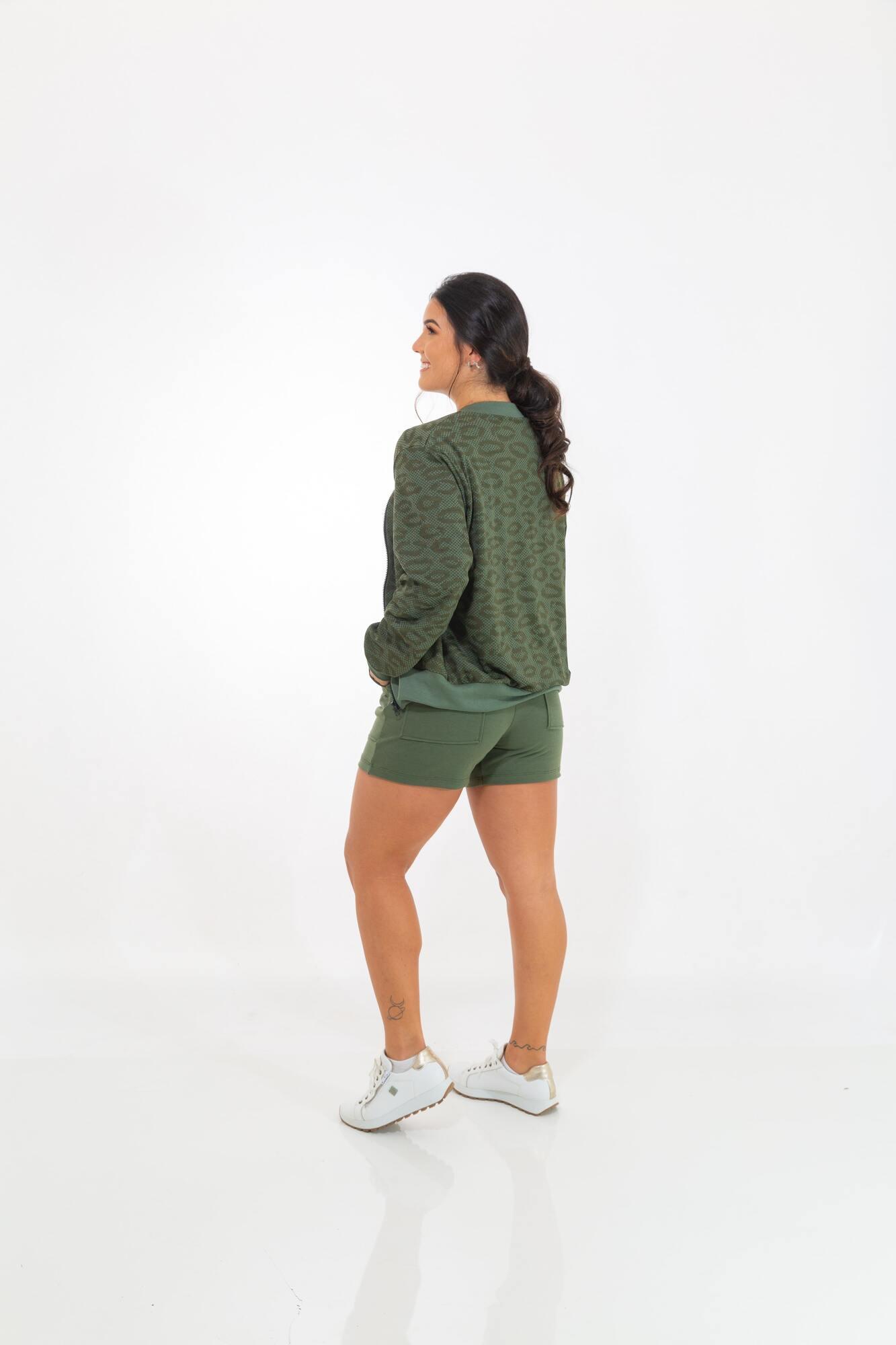 Casaco Moletinho Zipper Verde