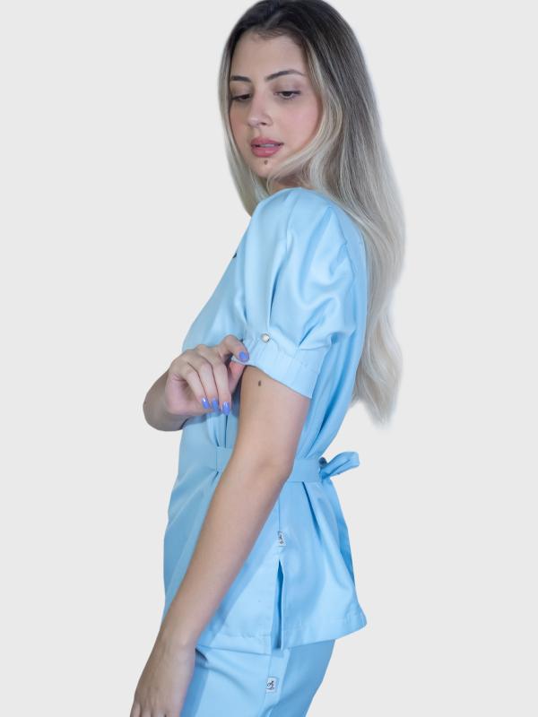 Conjunto Scrub Nicole Azul Bebê