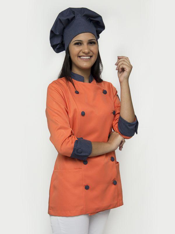 Dólmã Imperatriz Com Touca Chef
