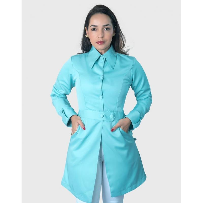 Jaleco Kiara Azul Tiffany