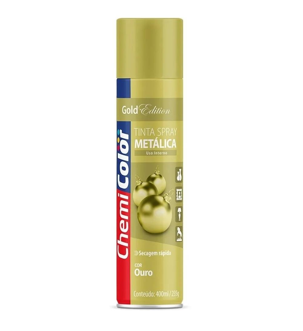 Tinta Spray 400ml metálica ouro