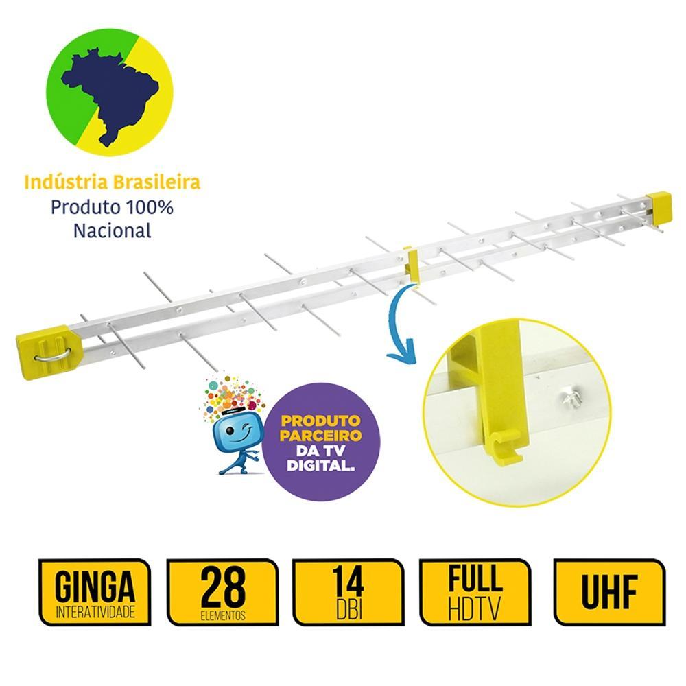 Antena Digital 28 Elementos - Pix