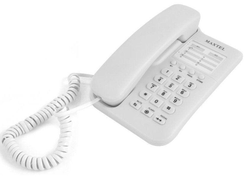 Aparelho Telefônico com fio - Maxtel MT-3033 - Branco