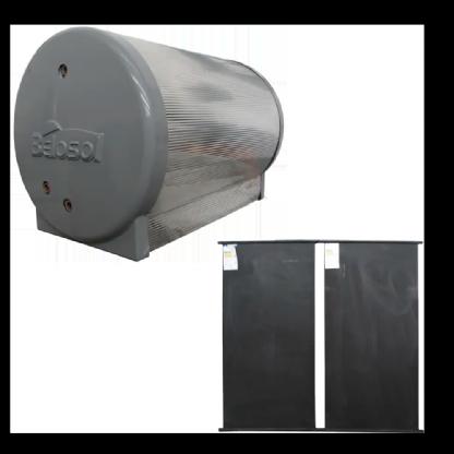 Aquecedor Solar TS 200L 2 Placas e Ducha 127V - Peça Única