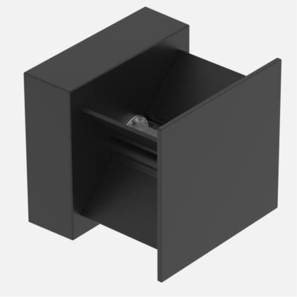 Arandela Duplo Facho Direcionável LED Preto Fosco 3000K (Bivolt)