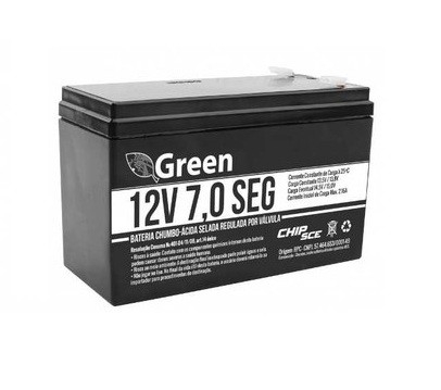 Bateria 12,0V 07.0AH Recarregável Selada