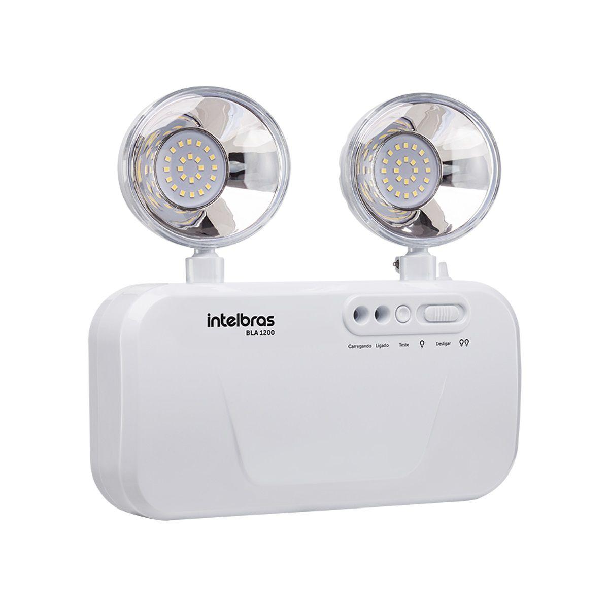 Bloco de Iluminação de Emergência c/ 2 Faróis LED 1200 Lúmens BLA 1200 - Intelbras (Bivolt)
