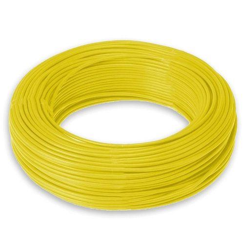 Cabinho Auto Plastic 4,00mm 750KV - Amarelo - (100 Metros)