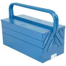 Caixa De Ferramentas Sanfonada Com 5 Gavetas- Azul