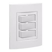 Conjunto 3 Interruptores Paralelo 4x2 - Pratis Branco