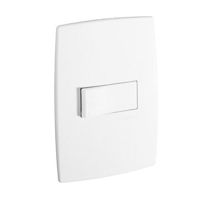 Conjunto Interruptor Simples Horizontal 4x2 Pial Plus - 10A / 250V