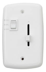 Dimmer Deslizador Para Ventilador Com Placa 4x2 Branca - 150W Bivolt