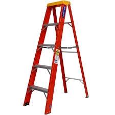 Escada Fibra Vidro Tesoura 5 Degraus