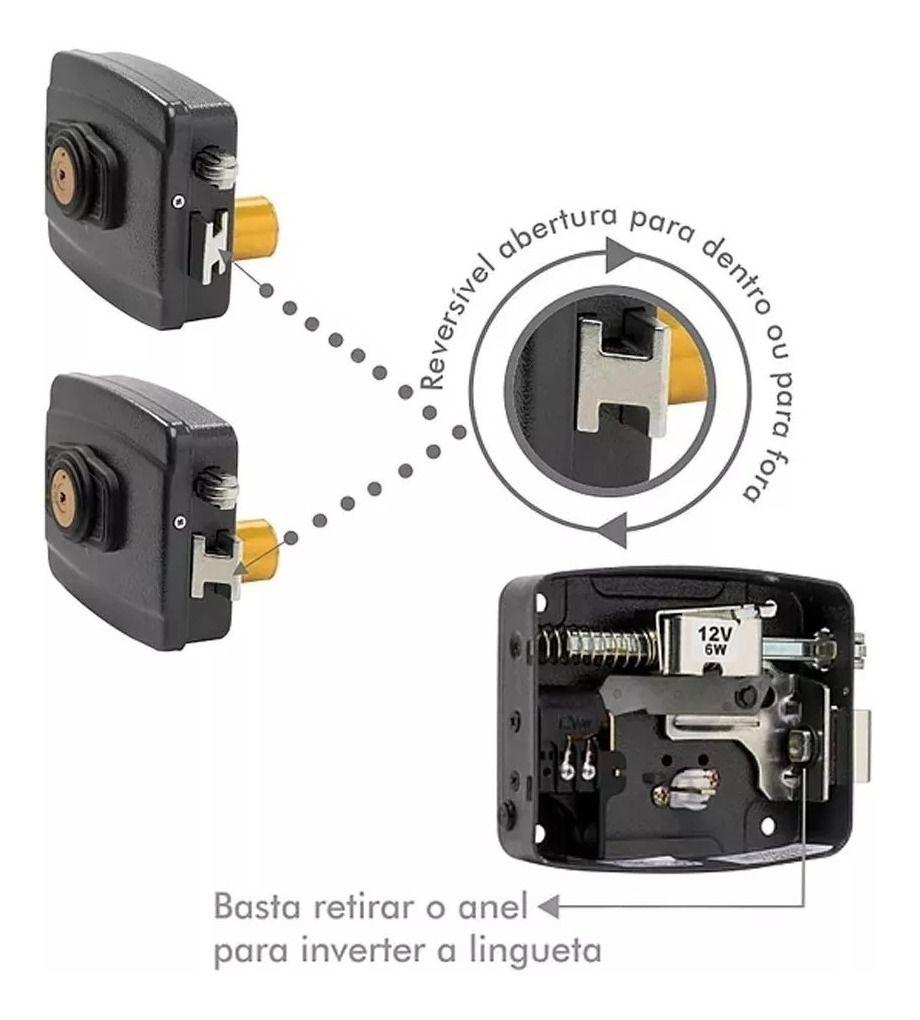 Fechadura Elétrica Reversível LR100 - AGL