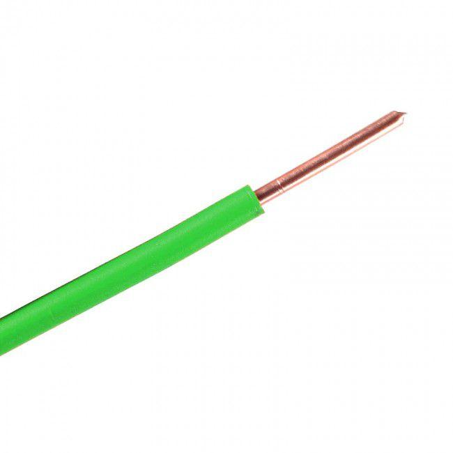 Fio Rígido Antichama 1,5mm Verde 750V - Multimarcas (100 metros)