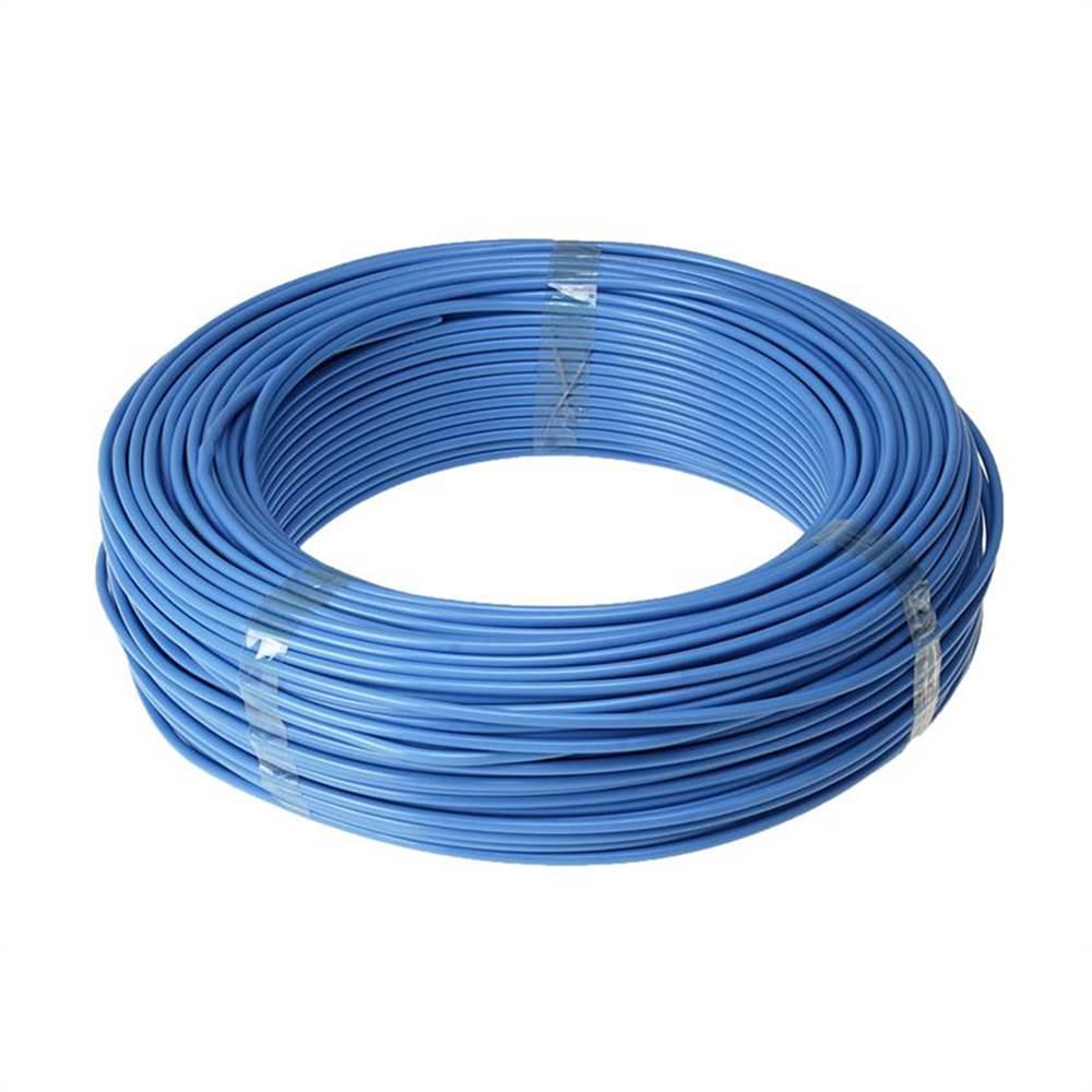 Fio Rígido Antichama 4mm Azul 750V - Multimarcas (100 metros)