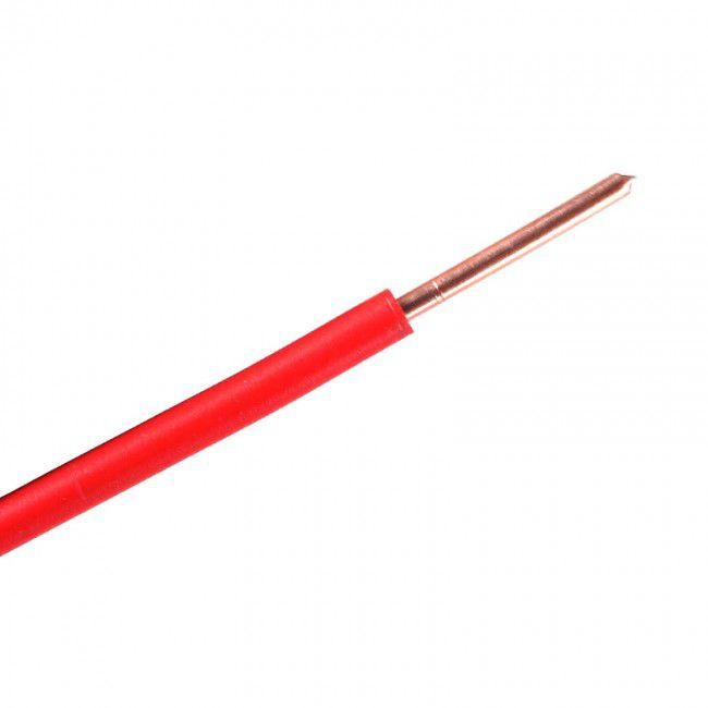 Fio Rígido Antichama 4mm Vermelho 750V - Multimarcas (100 metros)