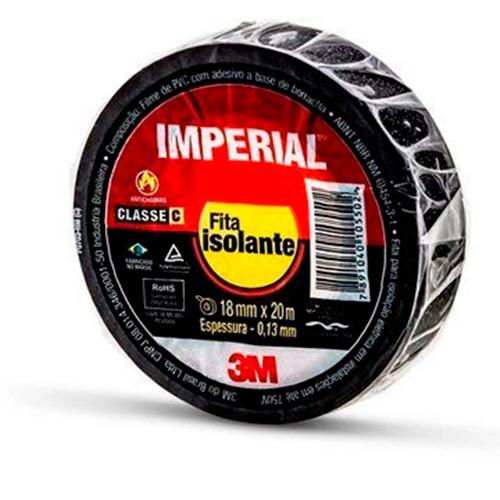 Fita Isolante 18mmx20M Imperial - Preta