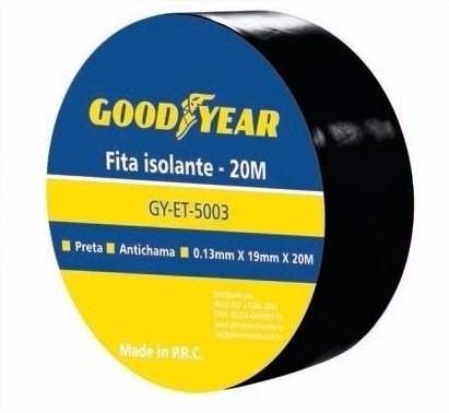 FITA ISOLANTE 19MM X 20M GOODYEAR - PRETA