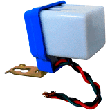Fotocelula Bivolt S/Reg Mini com Suporte Azul