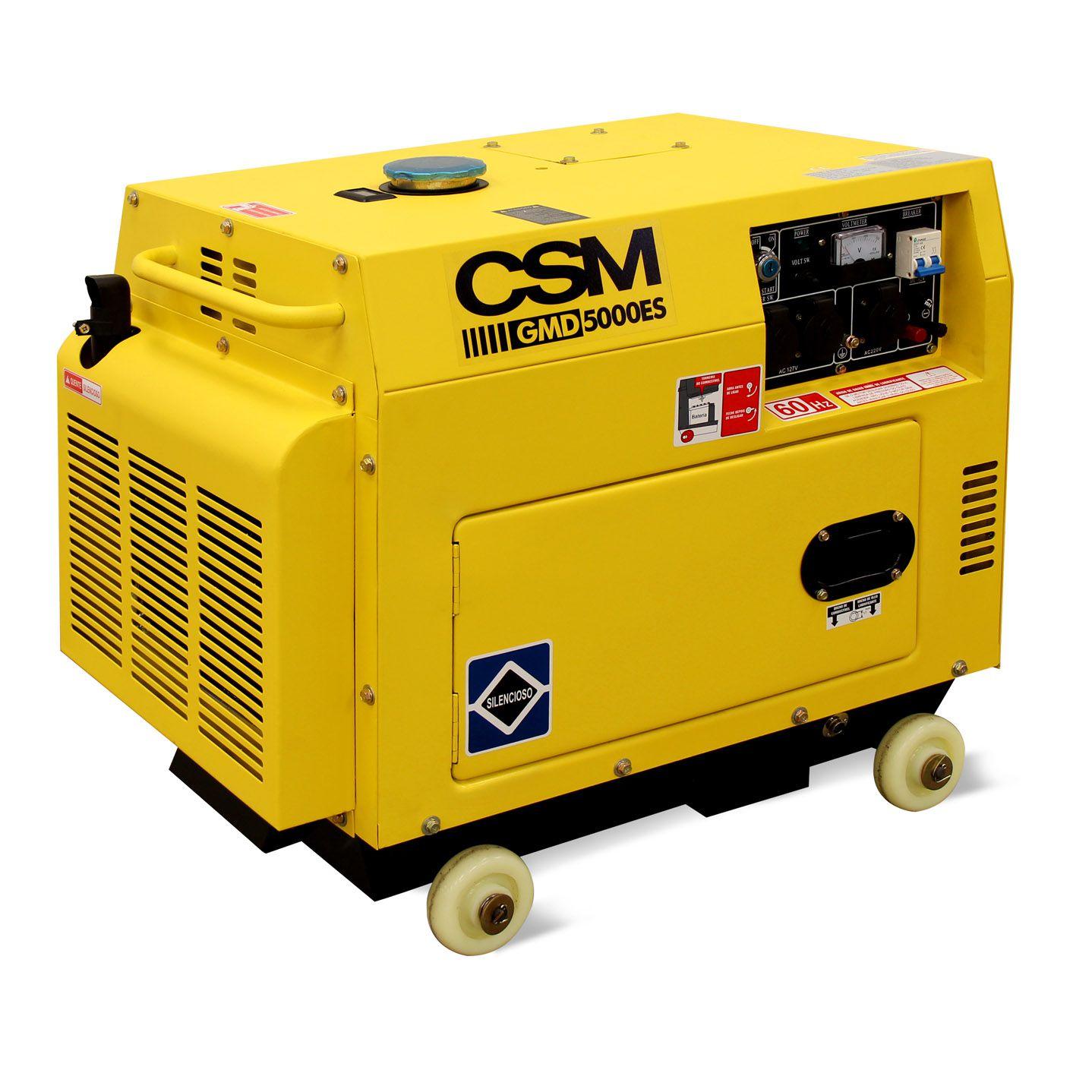 Gerador de Energia a Diesel 4,5 kVA Partida Elétrica - CSM (Bivolt)