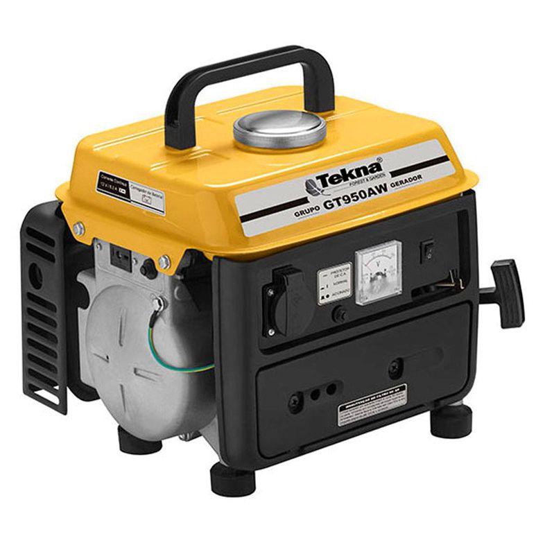 Gerador de Energia à Gasolina Portátil 2T 950W GT950AW - Tekna (110V)