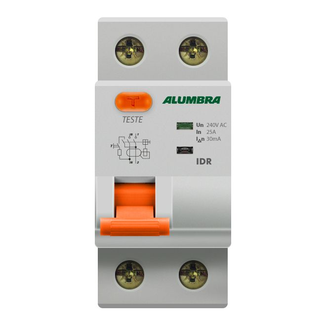 Interruptor Diferencial Residual Bipolar 25A - Aumbra (Branco)