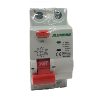 Interruptor Diferencial Residual Bipolar 40A - Alumbra (Branco)