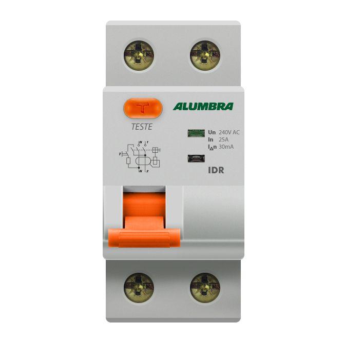 Interruptor Diferencial Residual Bipolar 63A - Aumbra (Branco)